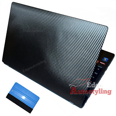 CARBON FIBRE Vinyl 3D For HP Laptop Notebook Skin Sticker Cover Free Squeegee !