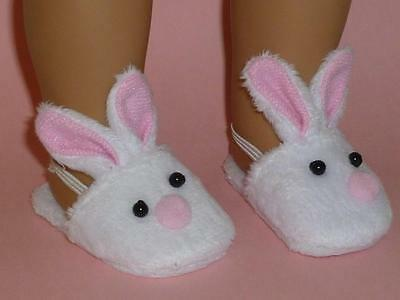 """Slip on Pink Bunny Slippers Fits18"""" Girl Doll Clothes Bedroom Shoes"""
