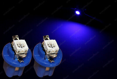 2x LED T5 Cap B8.5D 509T HID Blue Dashboard Cluster Speedo Instrument Bulbs 12v