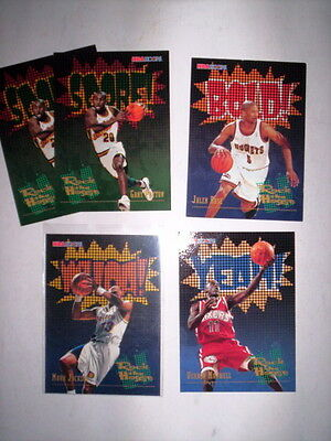 Superbe Lot 5 Cartes Basket Nba Hoops 1996 Rock The House