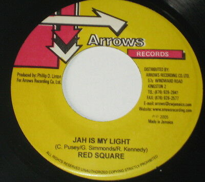 """7""""/JAMAICA/MR. PERFECT/NAH VOTE/RED SQUARE/JAH IS MY LIGHT/Arrows Records"""