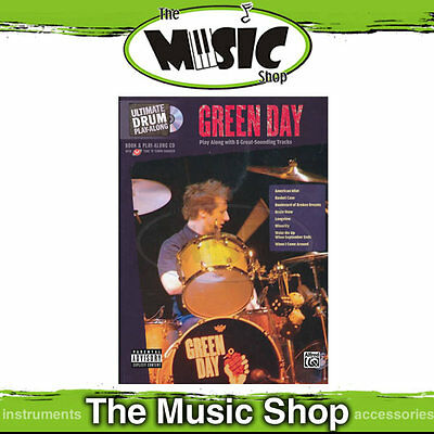 New Green Day Ultimate Drum Play Along - Book & CD - Green Day Drumming Book