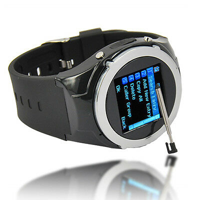 New Unlocked GSM Touch Screen Mobile Cell Phone Bluetooth Wrist Watch Camera MP3