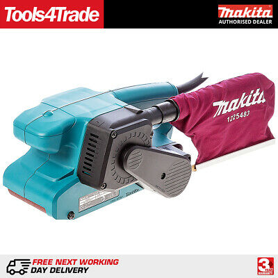 """Makita 9911 3""""/75mm Electric Heavy Duty Belt Sander 240V Corded With Dust Bag"""