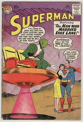 Superman #136 April 1960 G/VG
