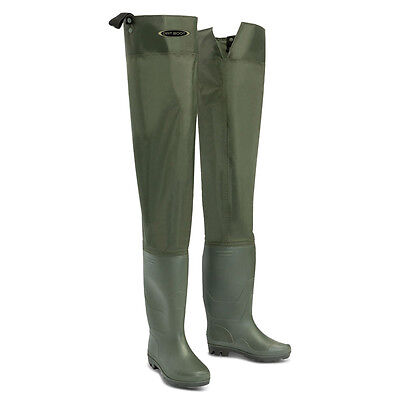 Dirt Boot™ Nylon Thigh Hip Waders 100% Waterproof Fly Coarse Fishing Muck Wader