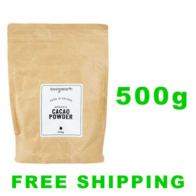 Loving Earth Raw Organic Cacao Powder 500g | Coco Powder | Cooking Cacao Powder