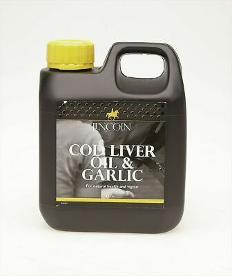 Lincoln Cod Liver Oil & Garlic - Horse Pony Supplements - 1 litre