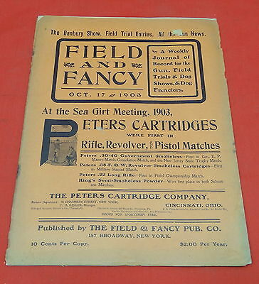 Vintage 1902-05 Field and Fancy Hunting Dog Magazine
