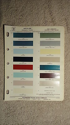 Ditzler Paint Chip Charts - 1962 Mercury
