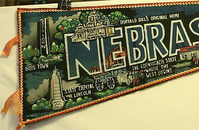 "Vintage Nebraska 26"" Pennant Boys Town Buffalo Bill's Original Home"