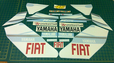 Yam YZF R125 Moto GP Rossi Fiat the Doctor Replacement decals sticker kit