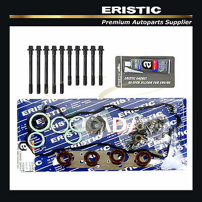 88-92 TOYOTA COROLLA 1.6L HEAD GASKET SET WITH BOLTS + GASKET SILICONE