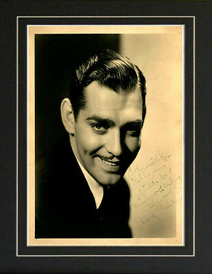 Autograph Clark Gable Gone With the Wind It Happened One Night Signed Photo Repr