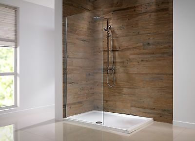 Walk In Shower Panel 8mm Glass Screen Enclosure Wet Room