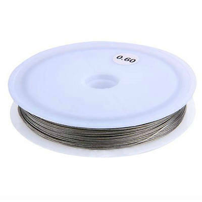Roll Silver Tiger Tail Beading Wire Cord Thread 0.6mm FASHION