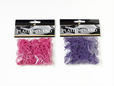 Lincoln Plaiting Bands  - Horse & Pony Grooming - Pink