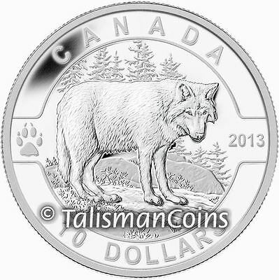 2013 Oh! Canada Series #6 Wolf $10 Pure Silver Proof