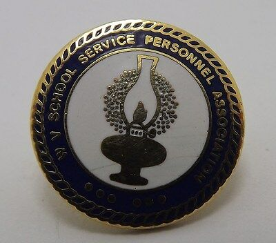 West Virginia School Service Personnel Association Lapel Hat Pin Enamel