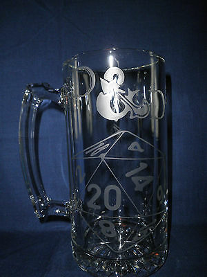 Dungeons & Dragons Beer Stein--HUGE 27OZ.Mug-D&D,RPG,ONLINE Gaming
