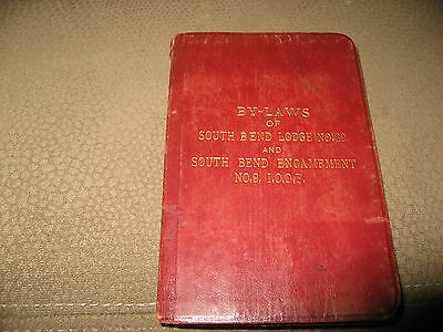 IOOF Odd Fellows Fraternal Order  By Laws No. 9 South Bend Indiana 1902