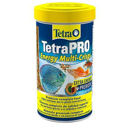 110g (500ml) TETRA TETRAPRO TROPICAL AQUARIUM FISH FOOD ENERGY CRISPS DAILY DIET