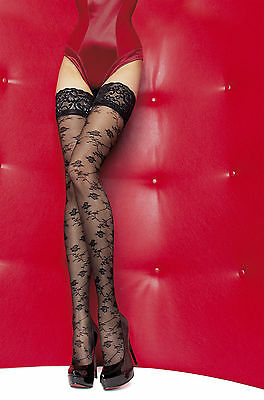 Fiore Tiberia Sensual Hold ups Beautiful Lace Top 20 Den 3D Patterned hold ups