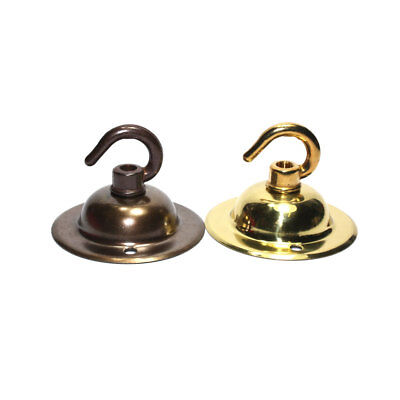 Solid Brass Hooked Ceiling Rose Fixing Plate 66mm Diameter Polished or Antique