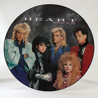 "Heart - Nothin At All - Extended Remix Picture Disc - Music 12"" Vinyl Single"