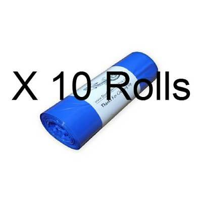 "2000 Dog Poop Bags on 10 Rolls Nice & Thick Biodegradable Pet Waste 8"" X 14"" #26"