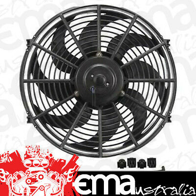 """Derale Dp18916 Dyno-Cool 16"""" Curved Blade Electric Thermo Fan 1980Cfm Reversable"""