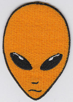 Alien iron on patch hat patch outer space alien head