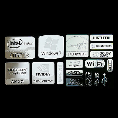 Intel Core i3 Logo Metal Decal Sticker NVIDIA Radeon Energy star (combo Type C)