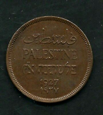 Palestine, ( Israel ) 1927,  1 Mil,  Bronze,  Almost Uncirculated,  Km#1,  (123)