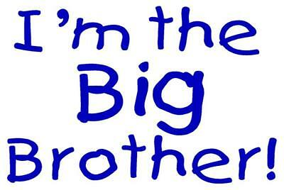 I/'M THE LITTLE BROTHER A5 IRON ON TRANSFER A5  BROTHER DESIGN TSHIRT TRANSFER A5