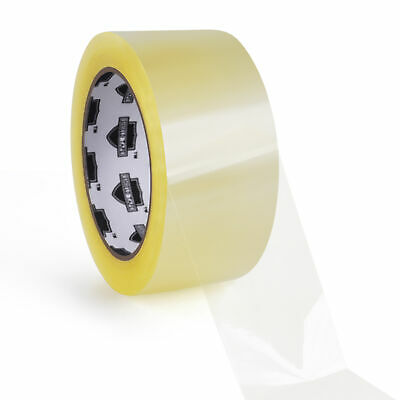 "2"" x 55 Yards Clear Packing Tape Carton Sealing 1.8 Mil Thick 72 Rolls (2 Cases)"
