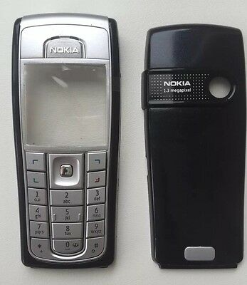 BRAND NEW TO FIT A NOKIA 6230i FASCIA HOUSING COVER SILVER KEYPAD