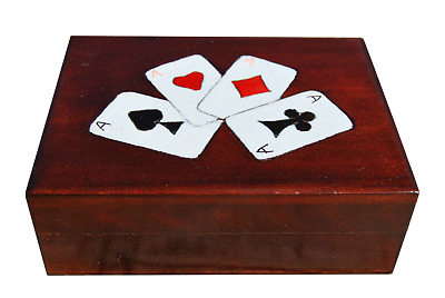 Single Wooden Playing Cards Box
