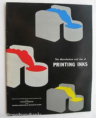 The Manufacture & Use Of Printing Inks