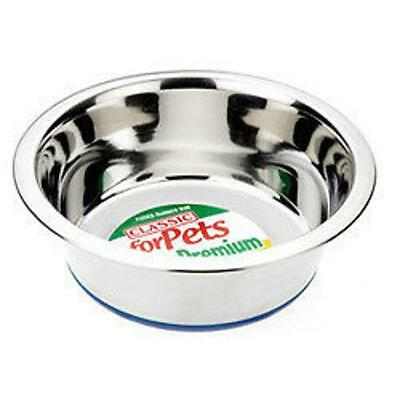 Classic Stainless Steel Silver Non Slip Pet Cat Dog Rabbit Food Water Bowl Dish