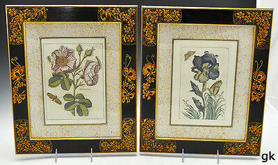 Stunning Pair of Antique French Hand Colored Prints From Robert Nicolas 1665