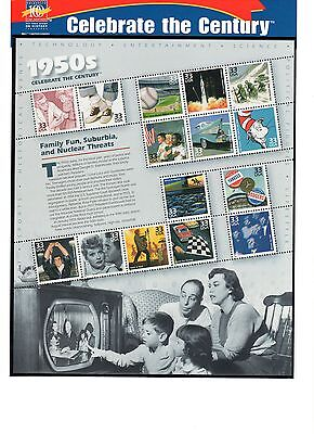 SCOTT # 3187  Celebrate the Century 1950's Issue U.S. Stamps MNH -  Sheet of 15