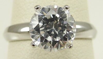 Sterling Silver Cubic Zirconia Ring Clear 8 mm Round Cut Solitaire Size 8