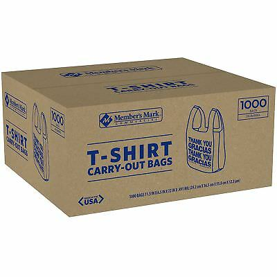 T-Shirt Thank You Plastic Grocery Store Shopping Carry Out Bag 1000ct Recyclable