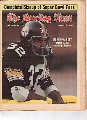 The Sporting News 1/24/1976 Football magazine,Franco Harris, Pittsburgh Steelers