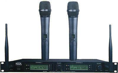 2x100CH UHF Diversity Wireless Handheld Microphone System KS-813 A