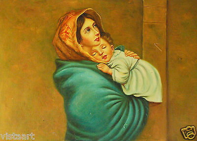"Oil Painting On Stretched Canvas 20""x 24""- Mother and Child"