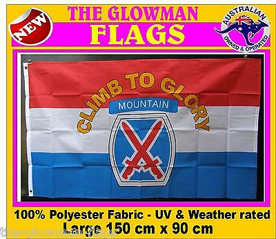 CLIMB to GLORY flag military mountain USA army includes AUSTRALIA POST TRACKING