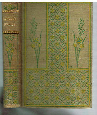 Early Poems by James Russell Lowell Early 1900's Rare Antique Book! $