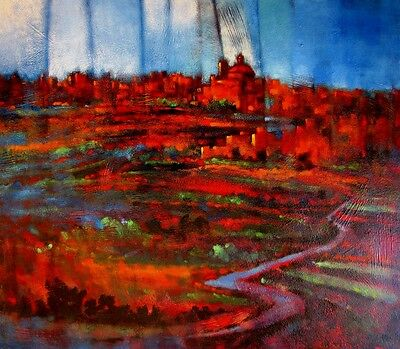 """STUNNING NEW CHRISTOPHER SALIBA ORIGINAL """"After the Storm""""  ABSTRACT PAINTING"""